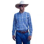 Camisa Ox Horns Xadrez Azul/ Cinza - 9132