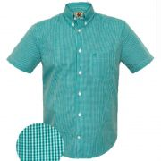 Camisa Ox Horns Xadrez Verde/ Branco - 9116