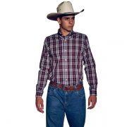 Camisa Ox Horns Xadrez Vinho/ Cinza - 9139