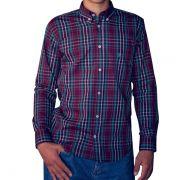 Camisa Ox Horns Xadrez Vinho/ Verde - 9135