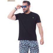 Camiseta Masculina Ox Horns Básica Preta - 8001