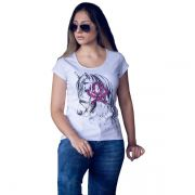 T-Shirt Ox Horns Branca - 6087