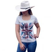 T-Shirt Ox Horns Cinza Mescla - 6086