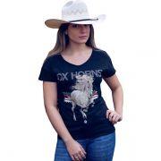 T-Shirt Ox Horns  Preta - 6082