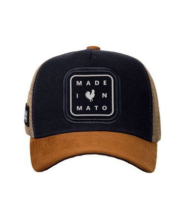 Boné Made In Mato Trucker Black Icon + 3 Brindes - B1640