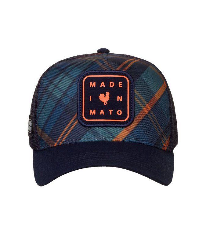 Boné Made In Mato Trucker Chess + 3 Brindes - B1754