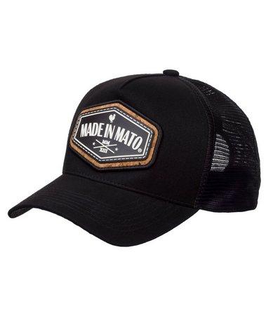 Boné Made In Mato Trucker Cork Black + 3 Brindes - B1873