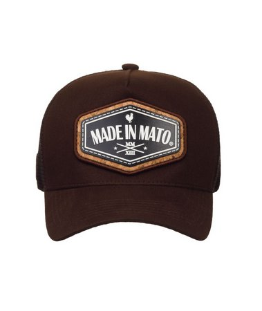 Boné Made In Mato Trucker Cork Brown + 3 Brindes - B1874