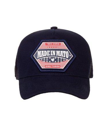 Boné Made In Mato Trucker EUA Blue  + 3 Brindes - B1898