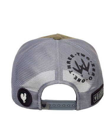 Boné Made In Mato Trucker FootPrint Grey + 3 Brindes - B1827
