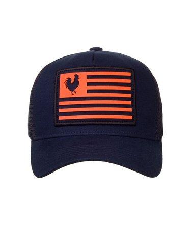 Boné Made In Mato Trucker Marine Orange + 3 Brindes - B1658