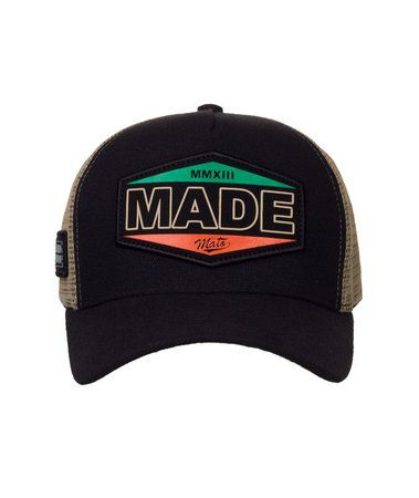 Boné Made In Mato Trucker Vintage Preto + 3 Brindes - B1706