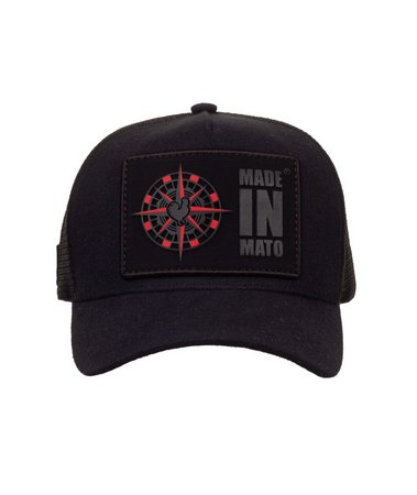 Boné Made In Mato Trucker Wind Rose Black + 3 Brindes - B1932