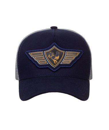 Boné Made In Mato Trucker Wings Blue + 3 Brindes - B1871