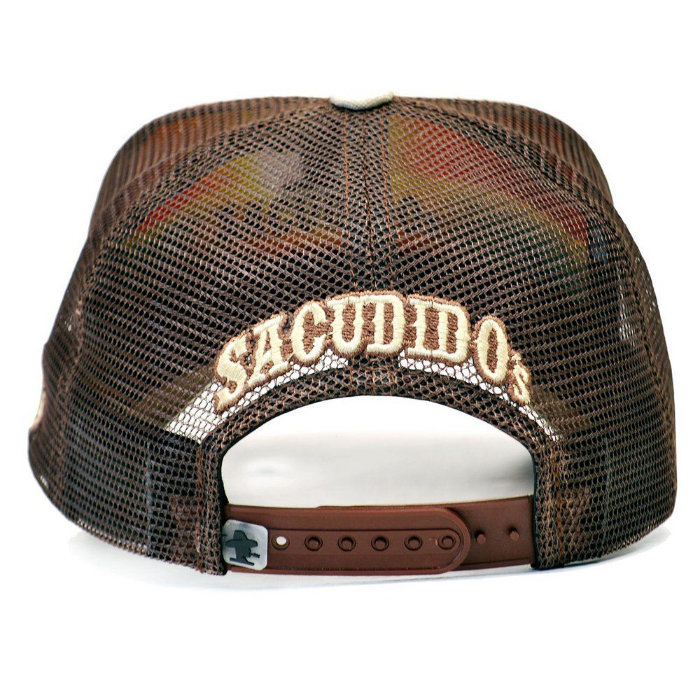 Boné Sacudido's Bege Claro Detalhe Couro Queimado + 3 Brindes - BN133SCD