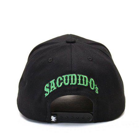 Boné Sacudido's Boi Estilizado Preto e Verde + 3 Brindes - BN233SCD