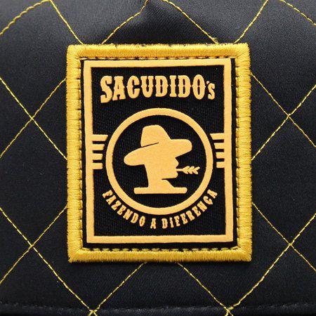 Boné Sacudido's Matelassê Preto e Amarelo + 3 Brindes - BN221SCD
