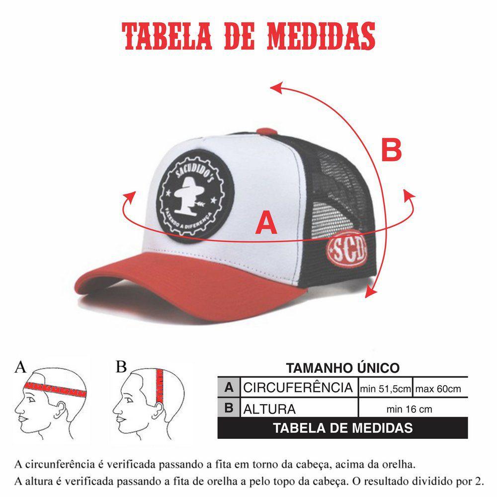 Boné Sacudido's Tricolor + 3 Brindes - BN55SCD