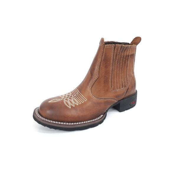Botina Unissex Gator Boots Mel Bico Redondo