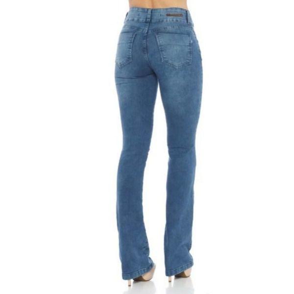 Calça Feminina Indulto Jeans Basic Alta Flare