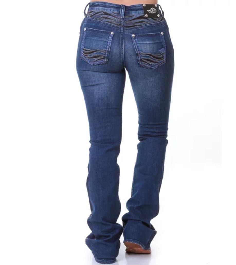 Calça Feminina Zenz Western Jeans Animal - ZW0319032