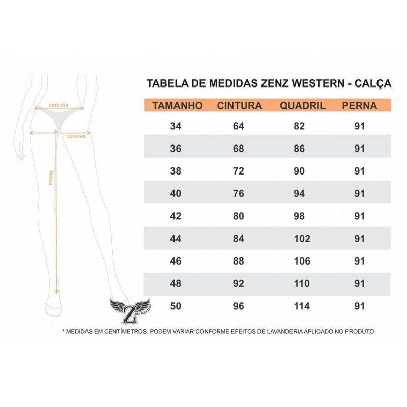 Calça Feminina Zenz Western Utah - ZW0219018