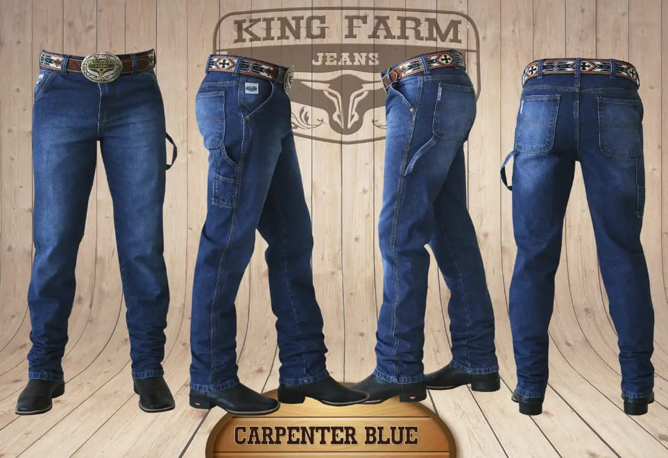 Calça Masculina King Farm Carpinteira Blue