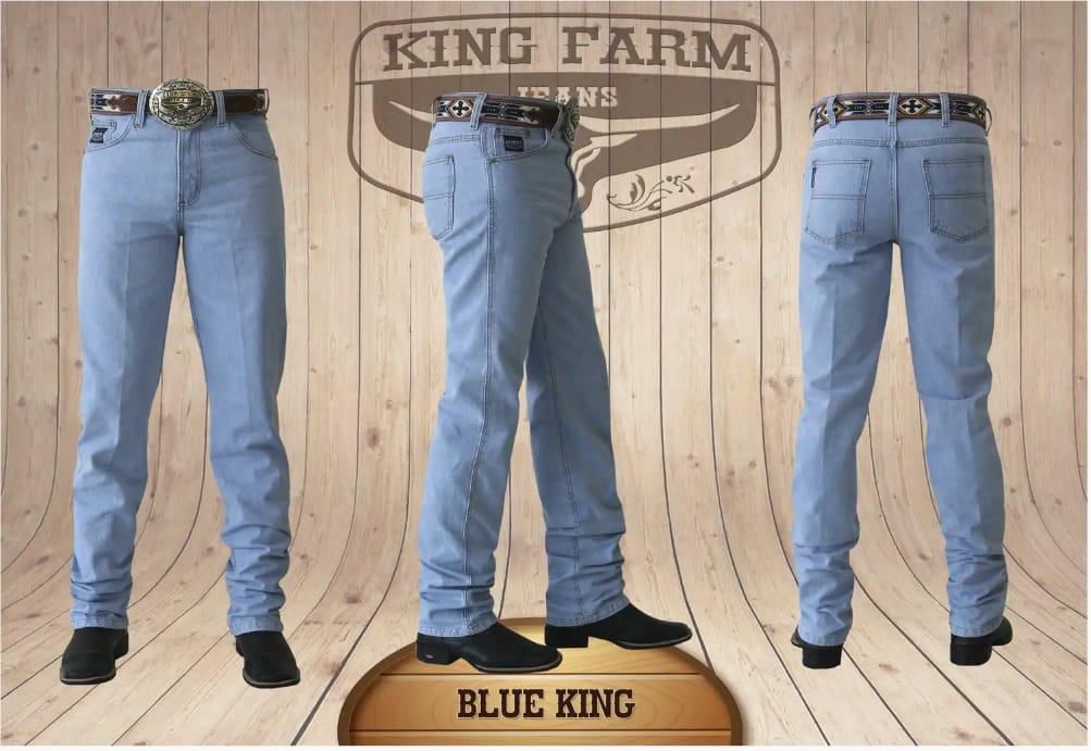Calça Masculina King Farm Tradicional Blue