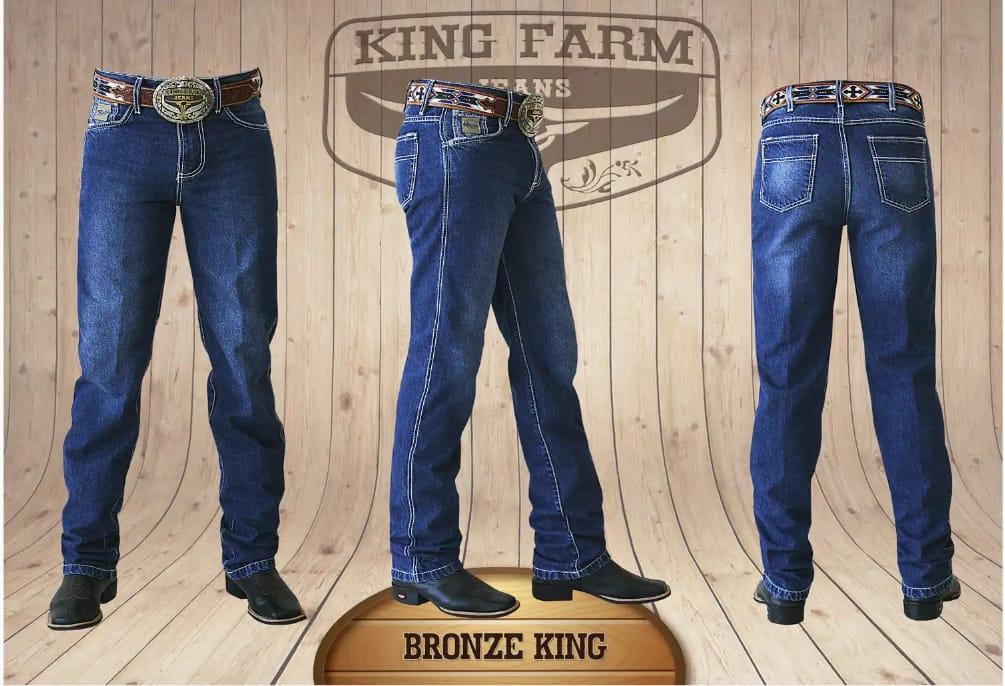 Calça Masculina King Farm Tradicional Bronze