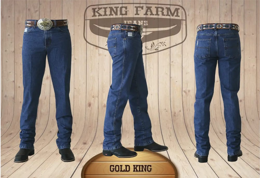 Calça Masculina King Farm Tradicional Gold