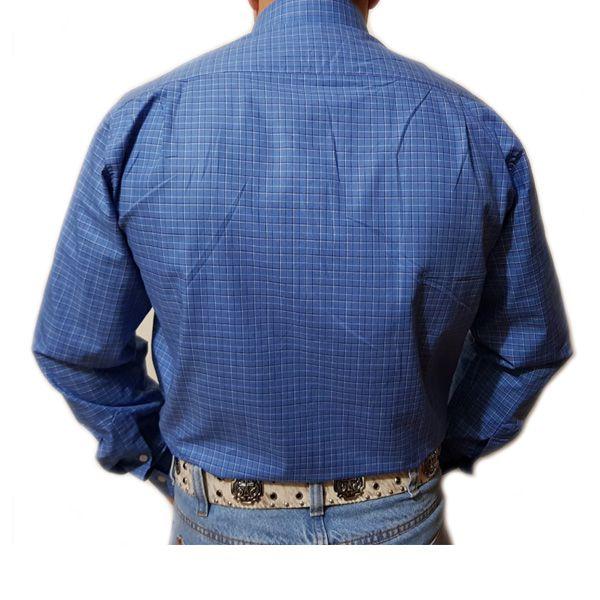 Camisa King Farm Xadrez Azul Claro/Branco - CKF0003