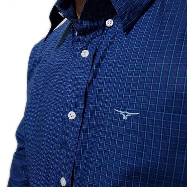 Camisa King Farm Xadrez Azul Escuro/ Verde - CKF0006
