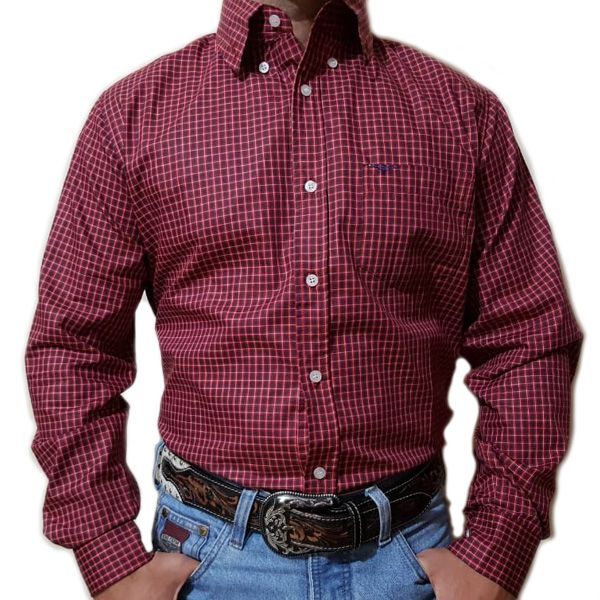 Camisa King Farm Xadrez Vermelho/ Azul - CKF0007