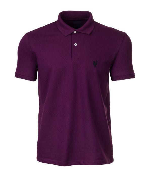 Camisa Polo Masculina Made In Mato Roxa - P2010