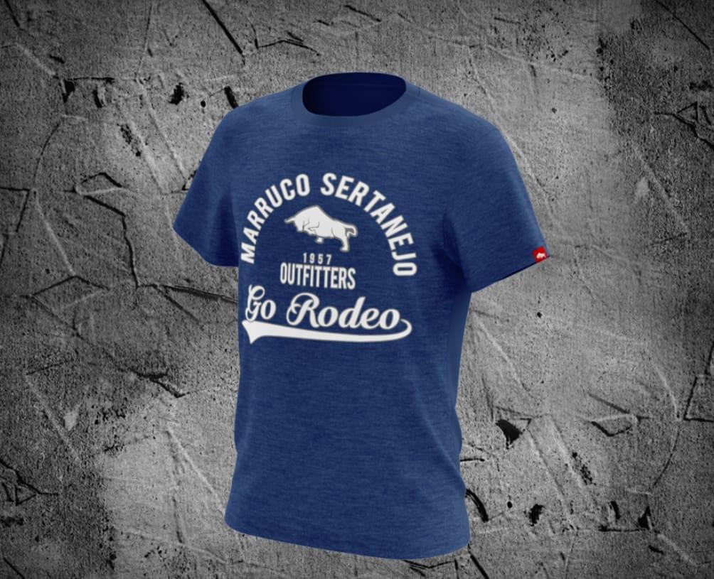 Camiseta Infantil Marruco Sertanejo Azul