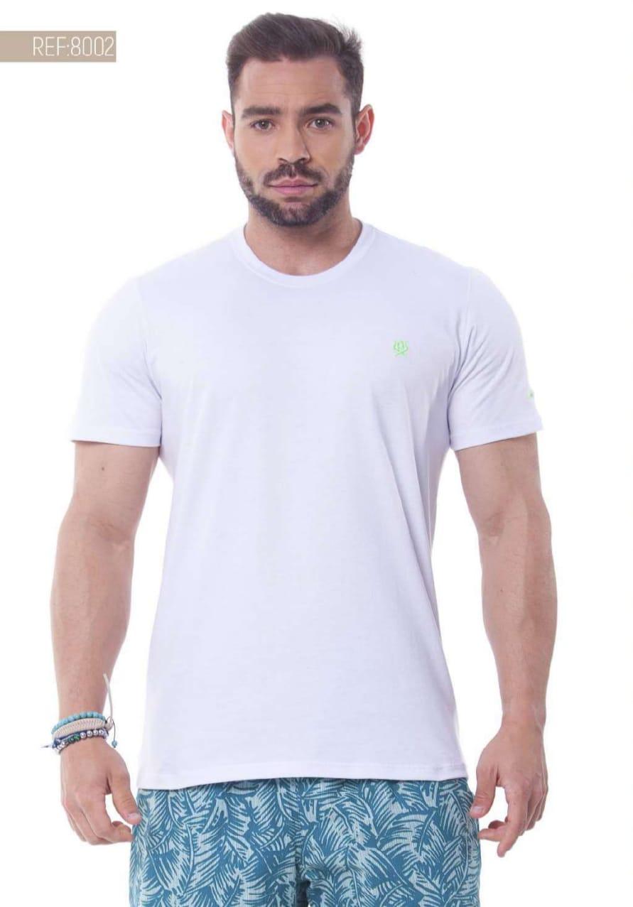 Camiseta Masculina Ox Horns Básica Branca - 8002