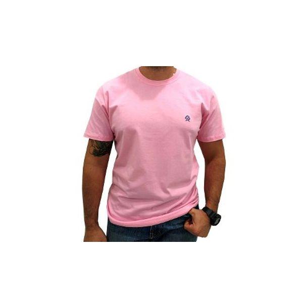 Camiseta Masc Ox Horns Basica Rosa Claro