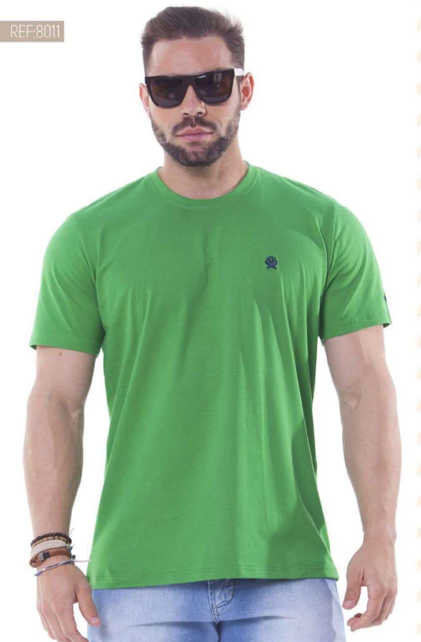 Camiseta Masculina Ox Horns Básica Verde - 8011