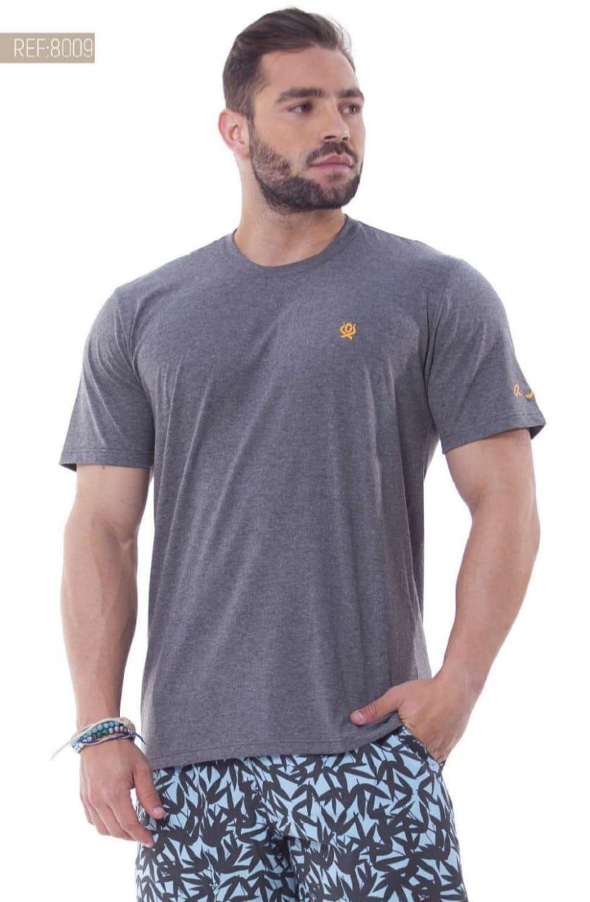 Camiseta Masculina Ox Horns Básica Chumbo - 8009