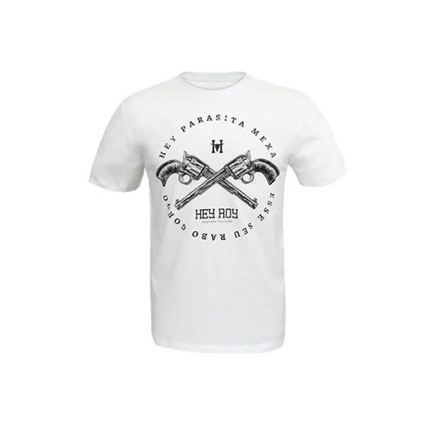 Camiseta Masculina Hey Roy Parasita Branca - 1031