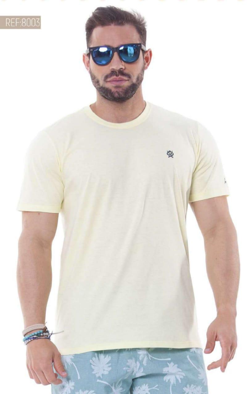 Camiseta Masculina Ox Horns Básica Amarela - 8003
