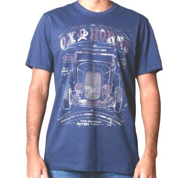 Camiseta Masculina Ox Horns Azul Marinho - 1067