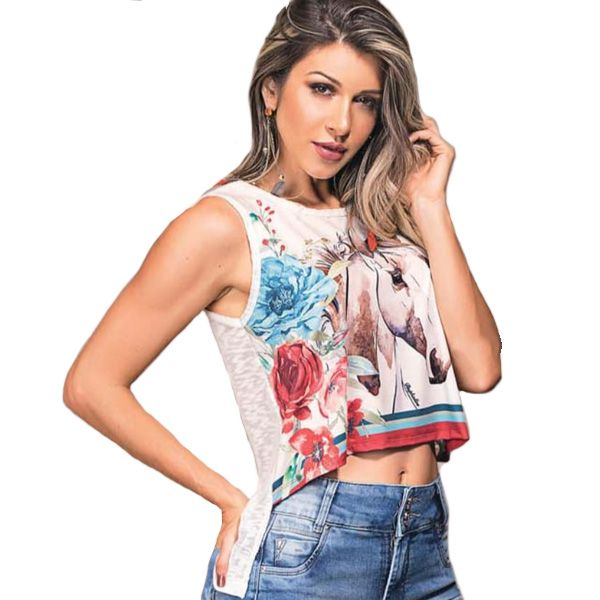 Cropped Feminino Buphallos Mullet - 9782A