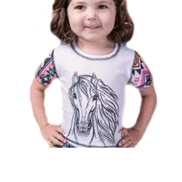 T-Shirt Infantil Miss Country Tee Horse Navajo - 336