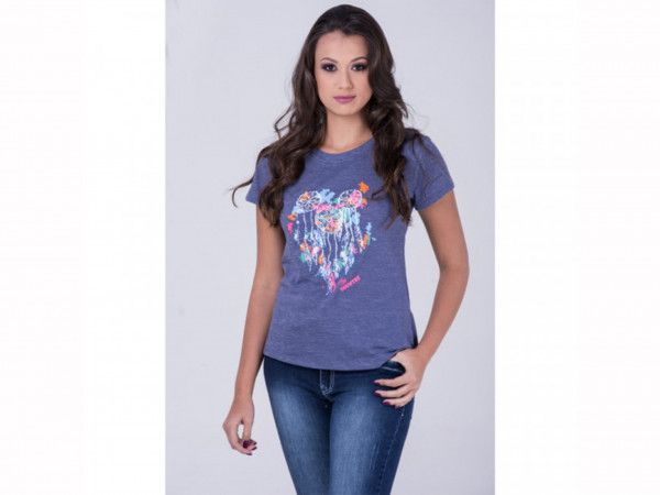 T-shirt Miss Country Colar Penas - 275