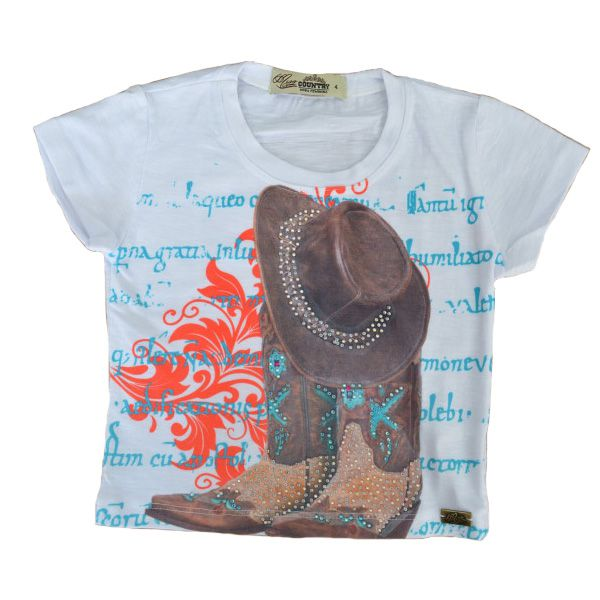 T-Shirt Miss Country Infantil Tee Boots - 334