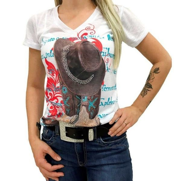 T-Shirt Miss Country Tee Boots - 333