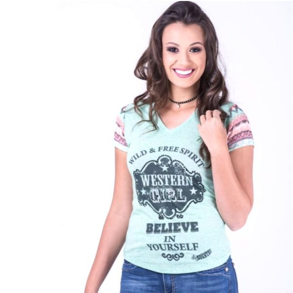 T-Shirt Miss Country Tee Cowgirl Believe - 264