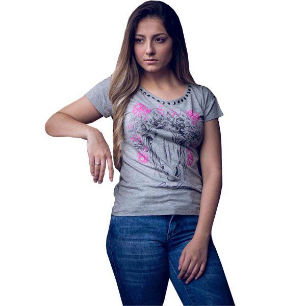 T-Shirt Ox Horns Cinza Escuro - 6077