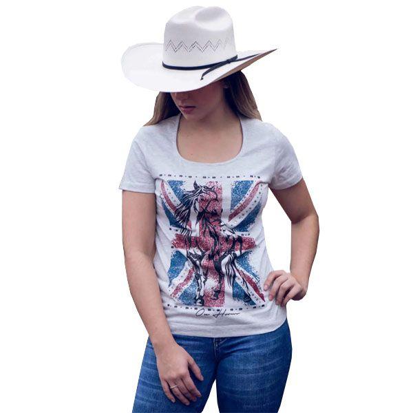 T-Shirt Ox Horns Cinza Mescla - 6086